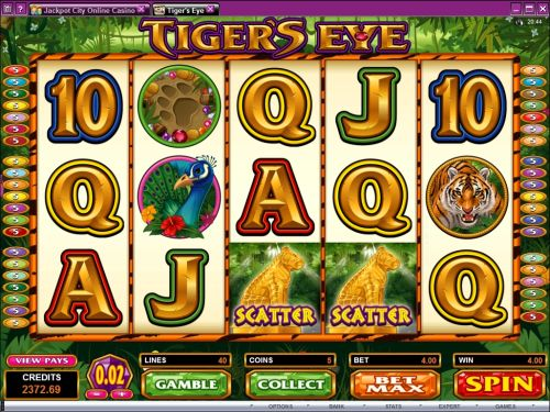 tigers eye video slot