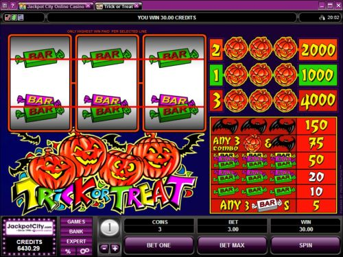 trick or treat microgaming classic slot