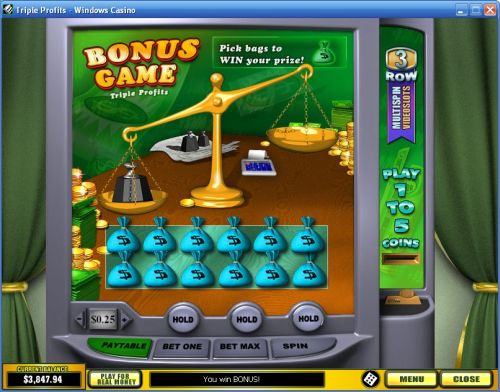 triple profits video slot