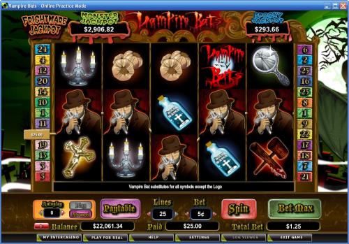 vampire bats crypto video slot