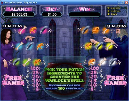 warlocks spell casino game