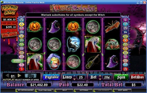 witches and warlocks video slot