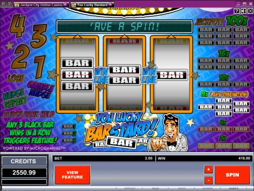 you lucky barstard fruit machine