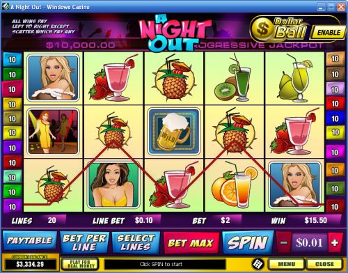 a night out video slot