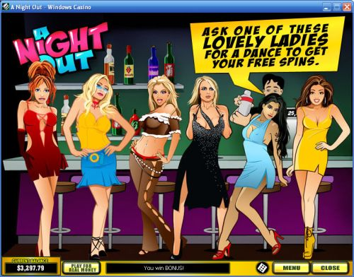 a night out casino flash game