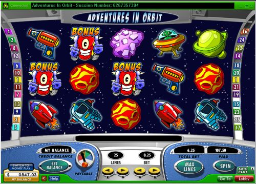 adventures in orbit video slot
