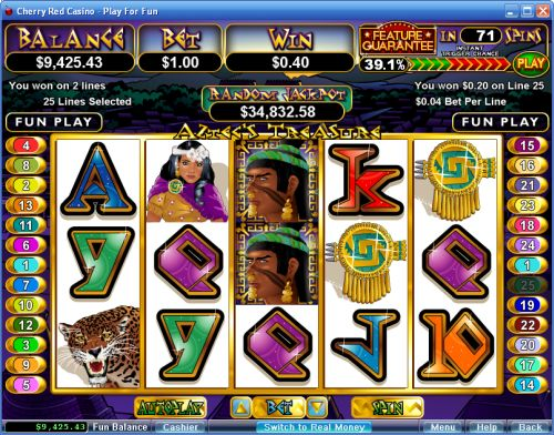 aztecs treasure video slot