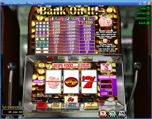 bank on it classic slot