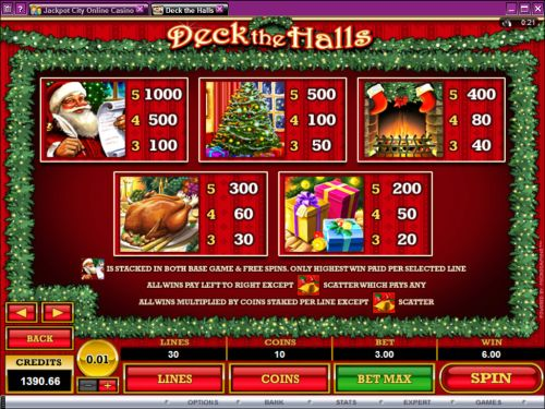 deck halls video slot flash