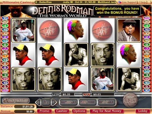 dennis rodman video slot
