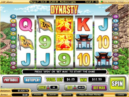 dynasty vegas tech video slot