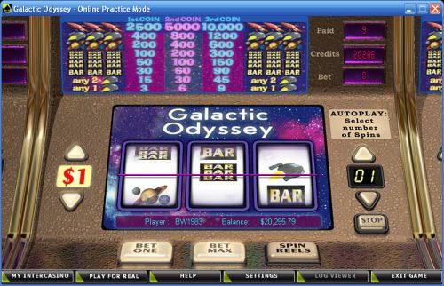 galactic odyssey classic slot