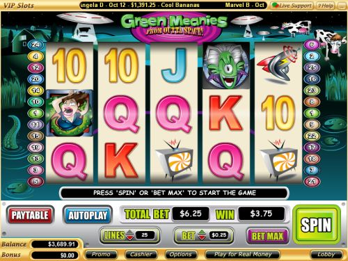 green meanies video slot