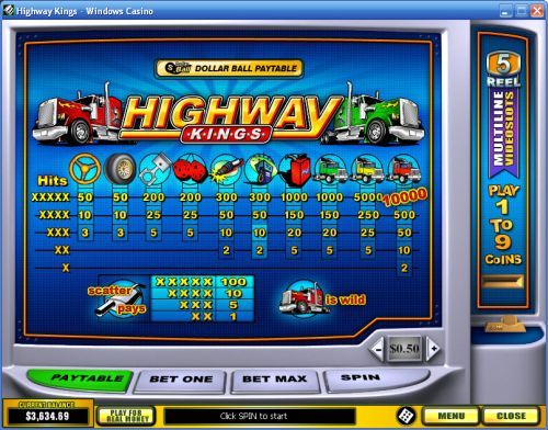 highway kings bonus game