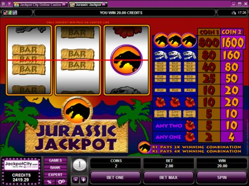 jurassic jackpot microgaming classic slot