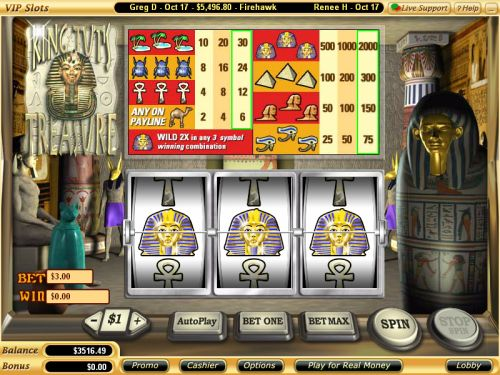 king tuts treasure classic slot