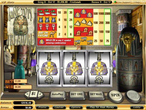 king tuts treasure classic slot