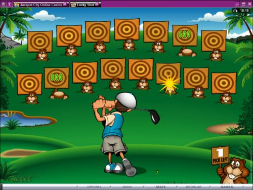 lucky shot golf flash game