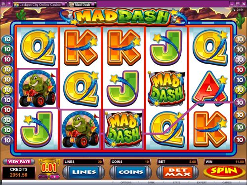 mad dash video slot