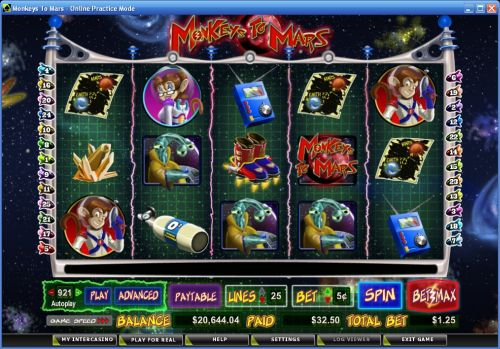 monkeys to mars video slot