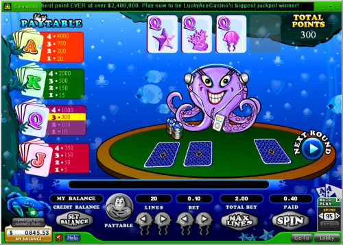 ocean odds flash bonus game