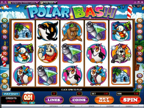 polar bash video slot