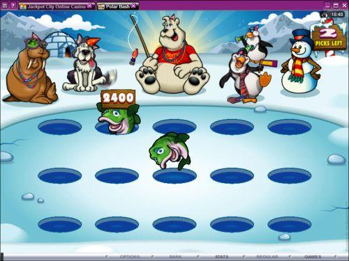 polar bash bonus game