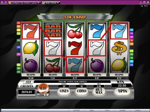 retro reels video slot