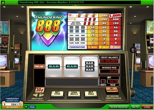 thundering 888 classic slot