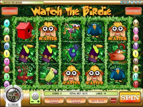 watch the birdie video slot