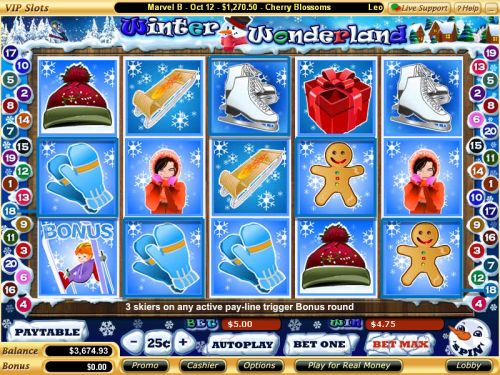 winter wonderland video slot