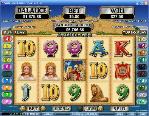 achilles rtg video slot