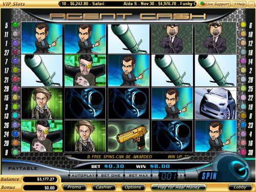 agent cash video slot