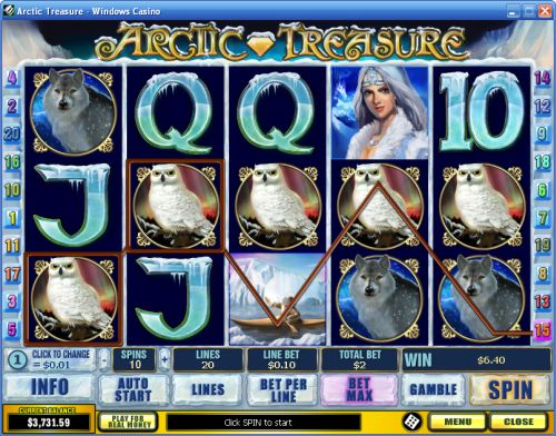 arctic treasure video slot