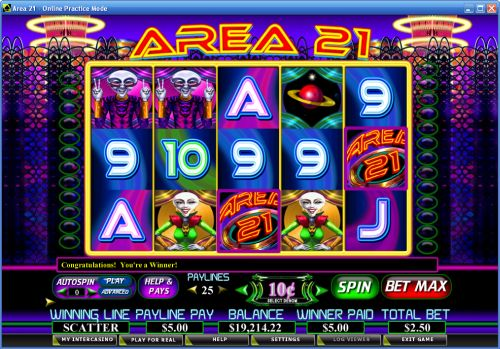 area 21 video slot