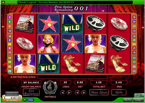 marilyn monroe casino flash game
