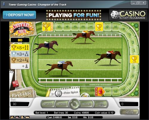 horse racing video slot