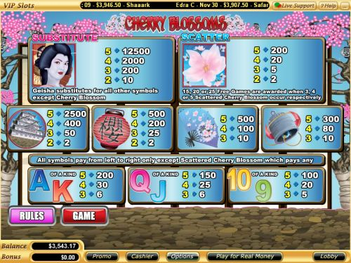 cherry blossoms flash bonus game