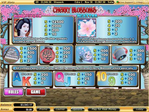 cherry blossoms flash bonus game