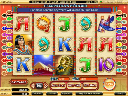 cleopatras pyramid video slot