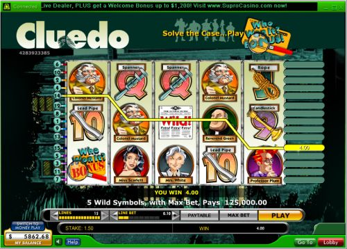 cluedo flash game