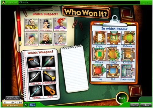 cluedo video slot