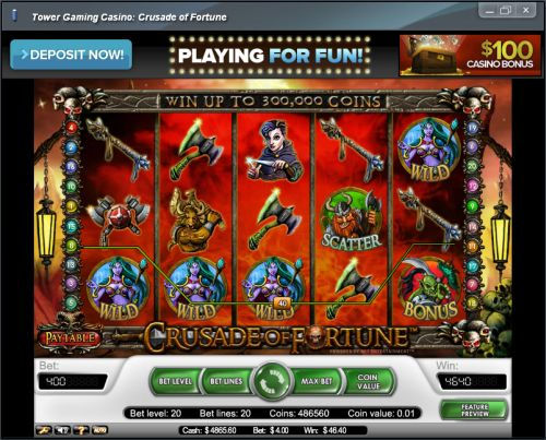 crusade of fortune casino flash game