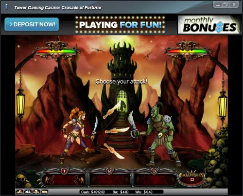 crusade of fortune flash game