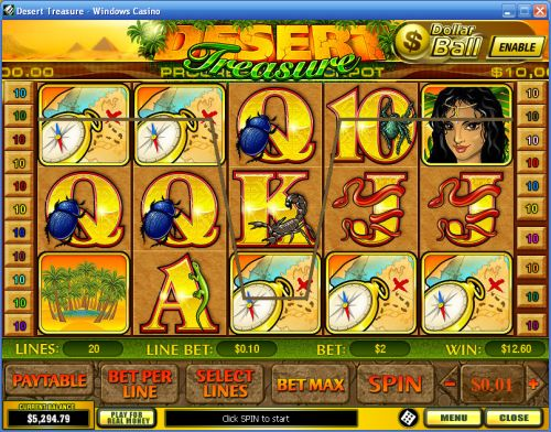 desert treasure video slot