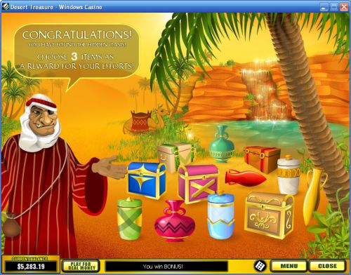 desert treasure casino flash game
