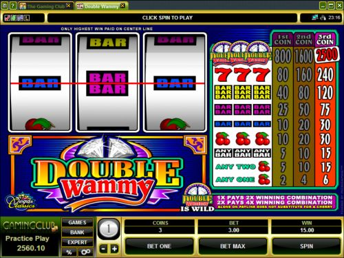 double wammy microgaming classic slot