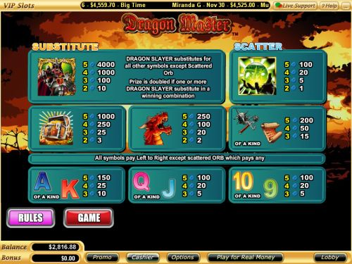 dragon master flash game