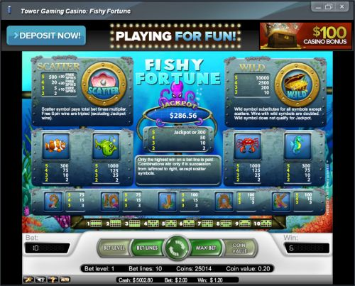 fishy fortune flash game