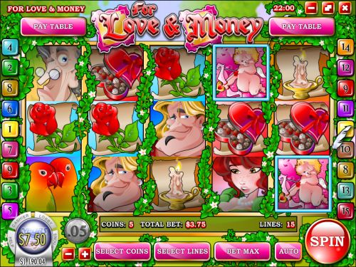 for love and money video slot